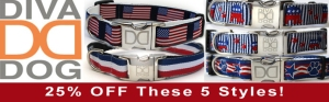 Save on these Red, White &  Blue collars thru July 5th!